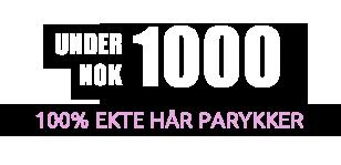 i henhold til 1000 kr 100% Ekte Hår Parykker