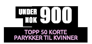 i henhold til 900 kr Topp 50 Korte Parykker til kvinner